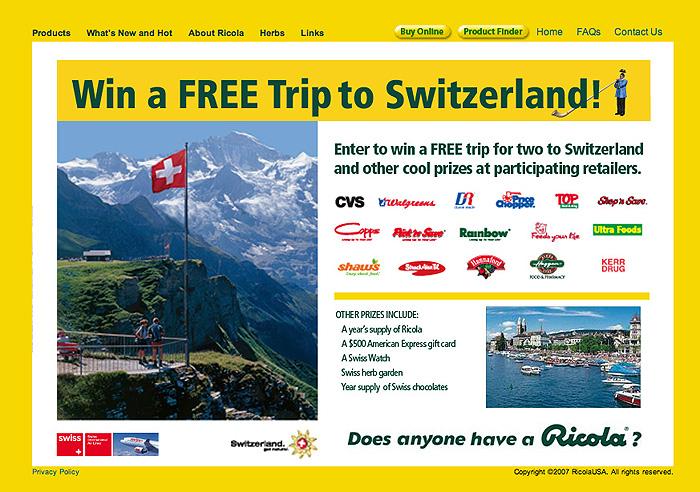 2 Ricola WEB - Win a trip