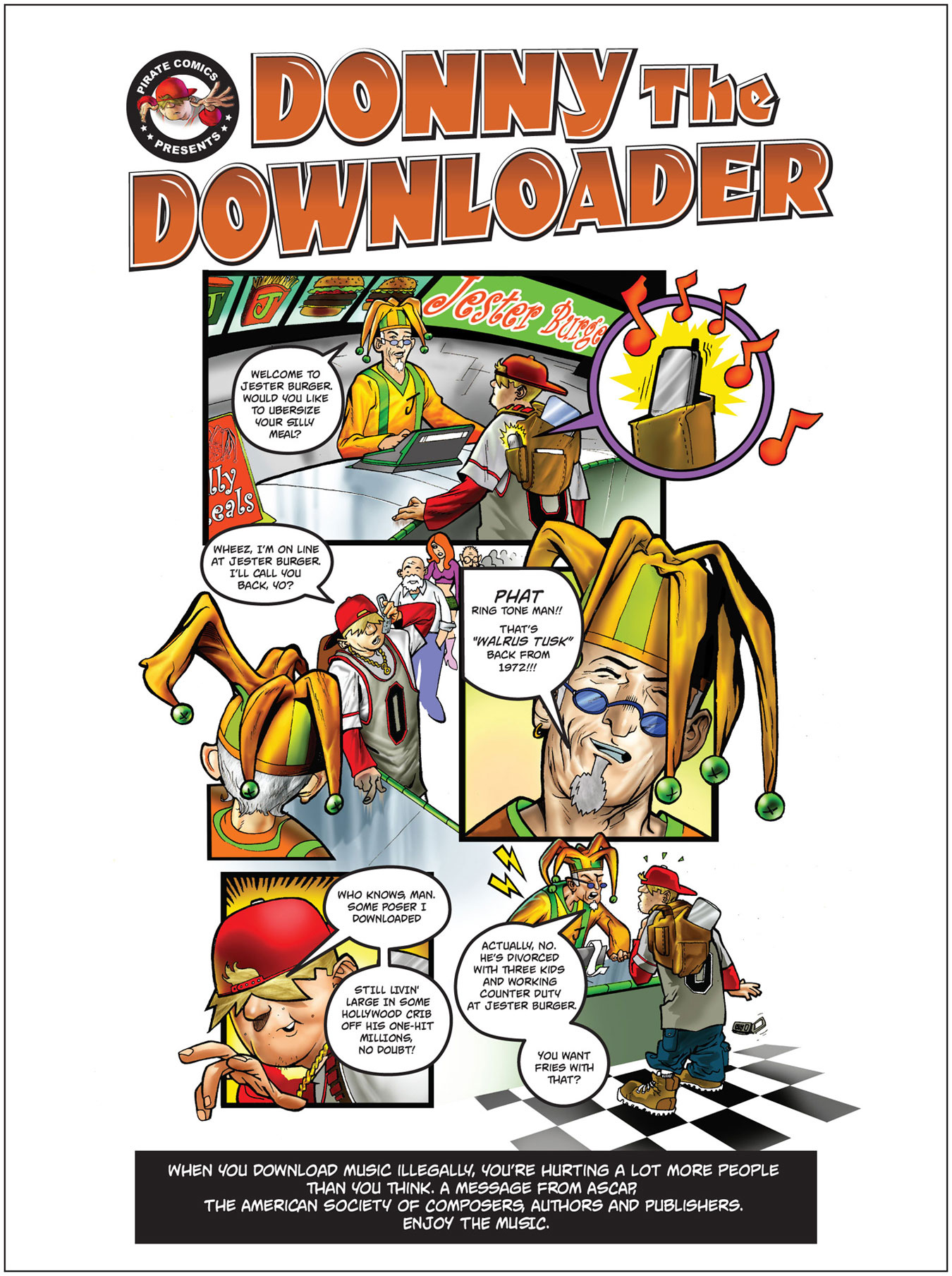 ASCAP-ASCAP Anti-piracy Campaign-Print Ad-1-Donny-Jester-Burger