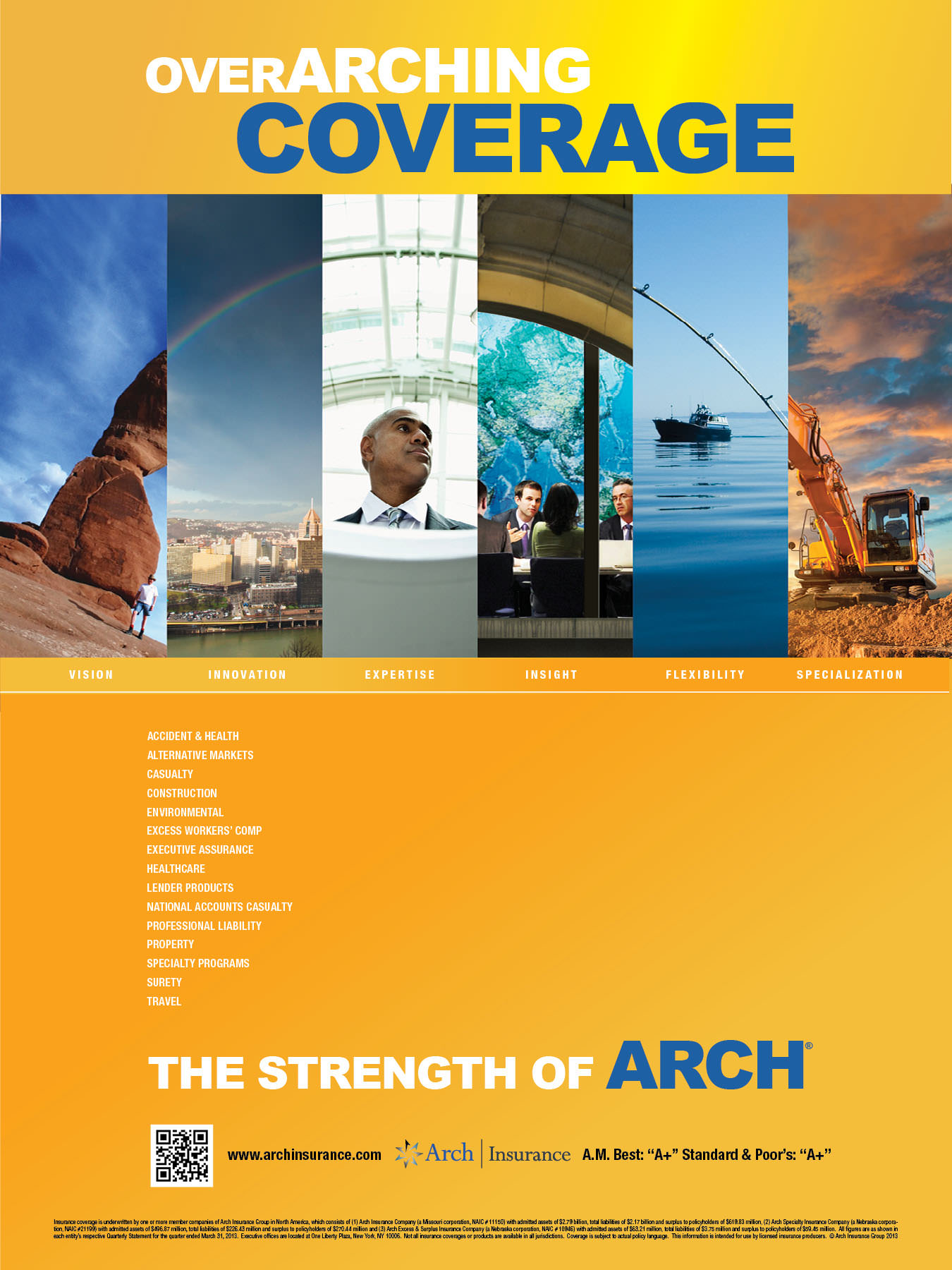 Arch Insurance PRINT-1-Corporate Ad Arches 18x24 poster