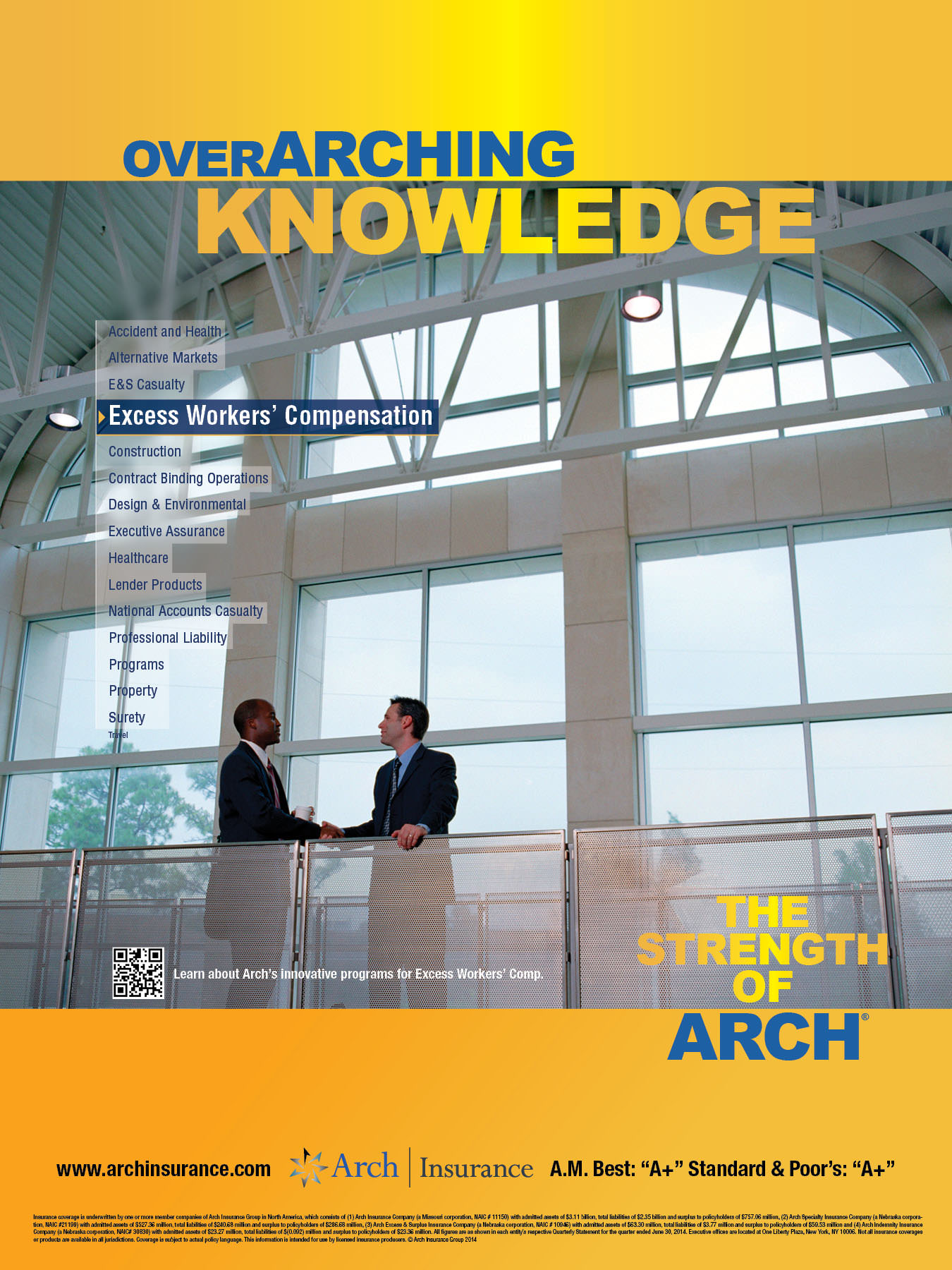 Arch Insurance PRINT-6-Excess Workers Comp 18x24Poster